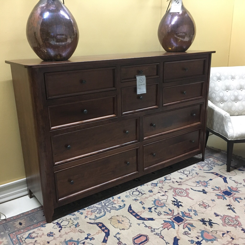 Solid cherry dresser is top quality